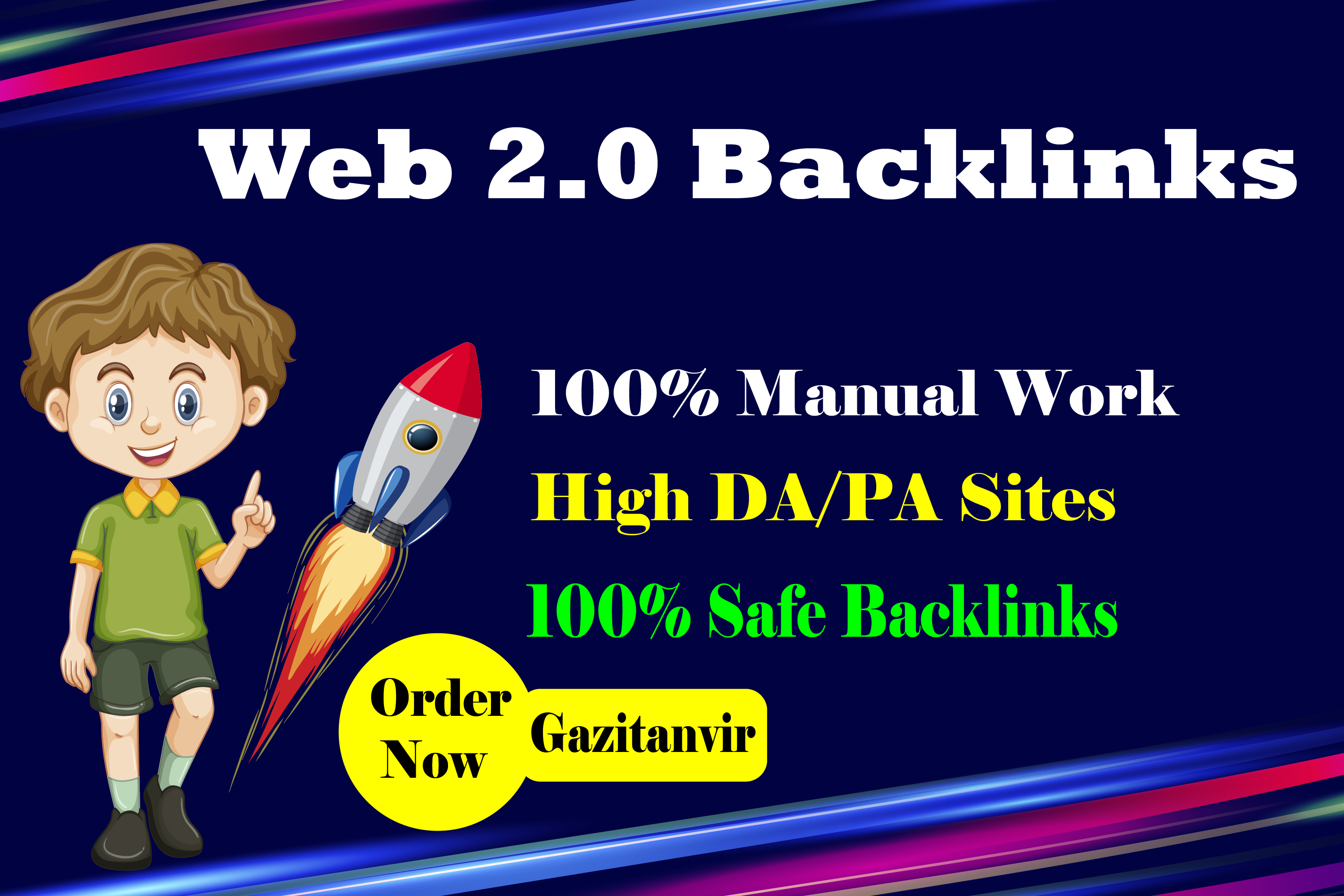 I will create 20 high authority web 2.0 backlinks