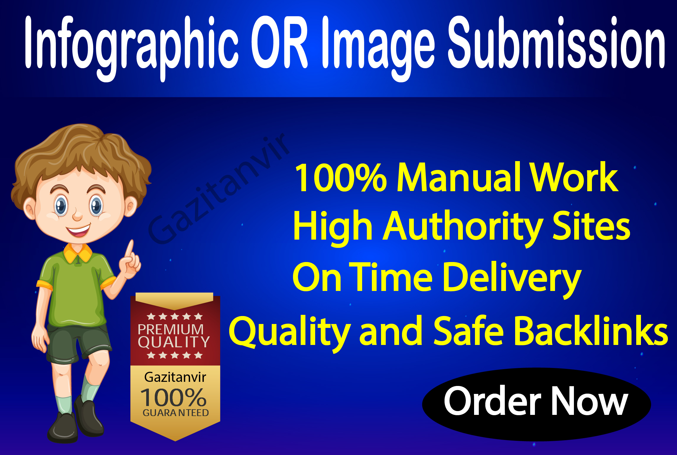 I will do 10 images or infographic submission on high-quality sites