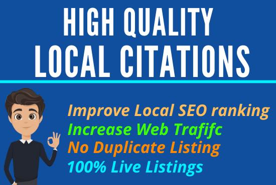 I will Create Manually 30 USA High Quality Local Citations