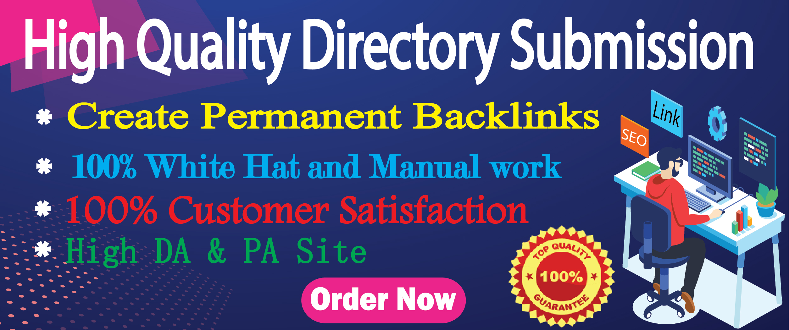 I will provide manually 50 Web High-Quality Directory Submission