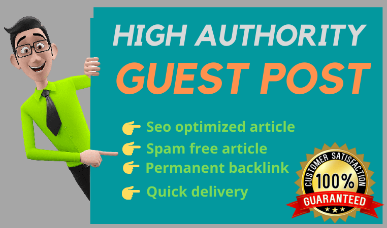 I will published 4 high da guest post SEO authority backlinks for ranking