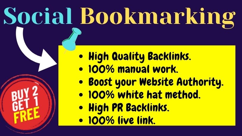 Manually Build 60 High quality and High PR Social Bookmarking Back-links Linkbuilding for Your Site.