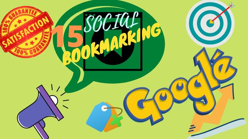I will provide 15 High quality,  Manual & Dofollow-Nofollow combination social bookmarking back-links