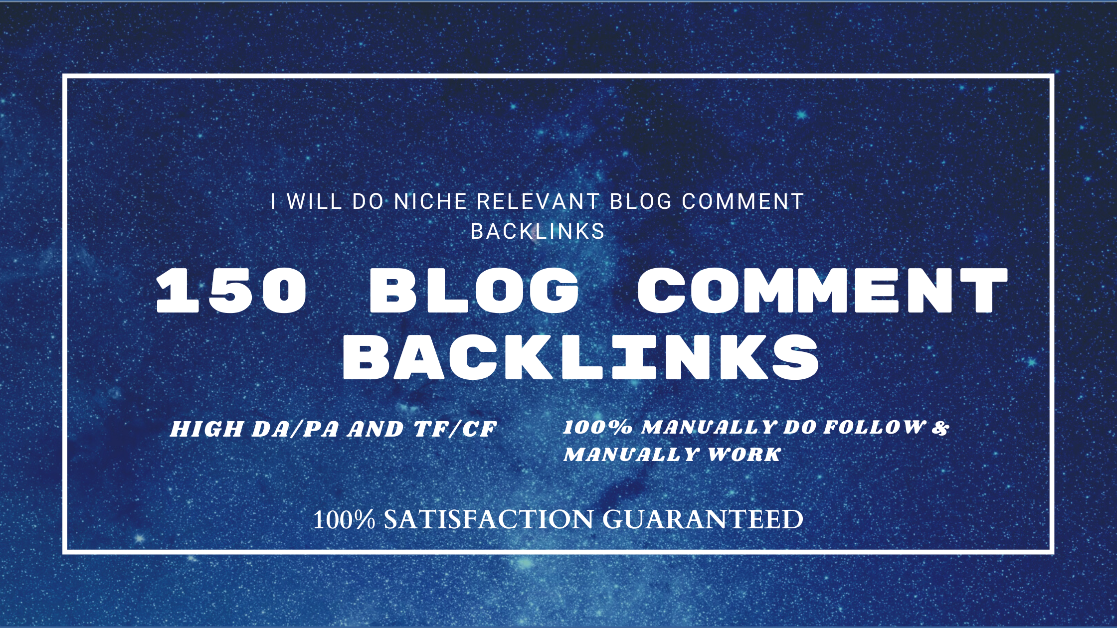 I will do 150 niche relevant blog comment backlinks