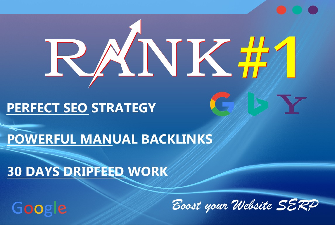 Rank Your Website On Search Engine 30 Days Manually Created Seo Backlinks