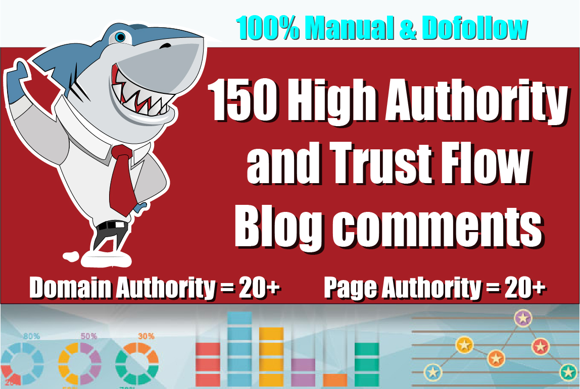 Create 150 Unique Domains Dofollow Blog Comments ON DA 50+ HIGH PA TF CF on Actual Page
