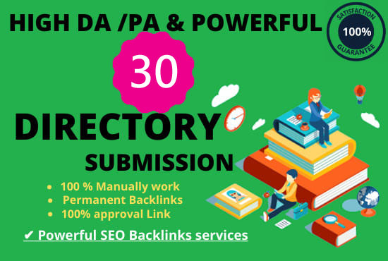 I will provide 30 High-quality directory submission for your website
