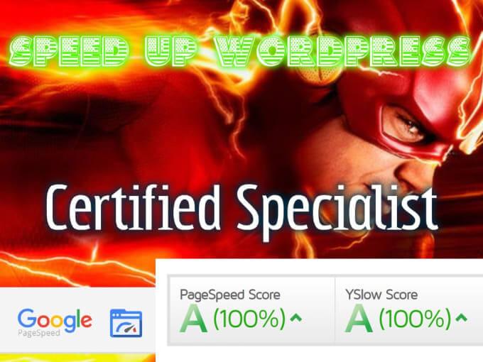 I will increase speed up performance wordpress website optimization