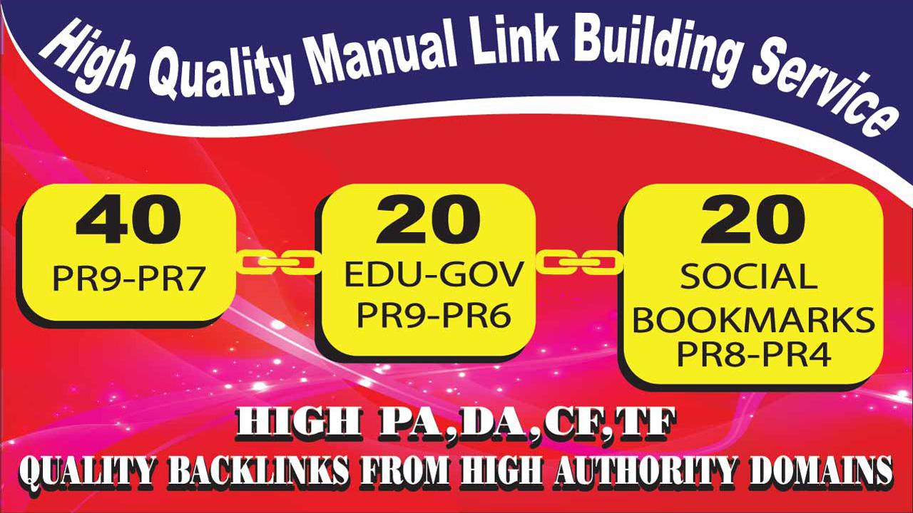 Create 80 PR9-PR6 Backlinks From High Authority Websites