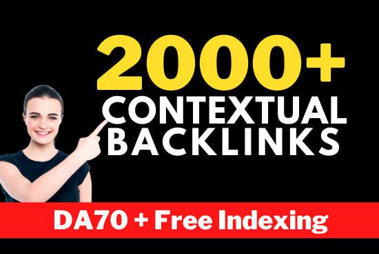 Create 2000+ white hat contextual seo dofollow high quality backlinks