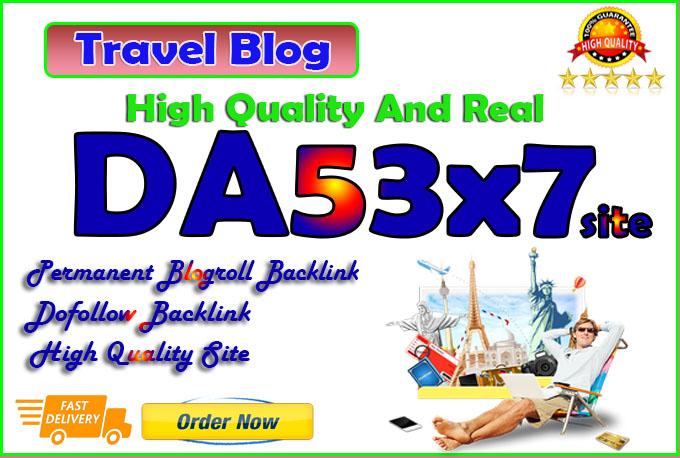 your backlink on da53x7 travel permanent blogroll