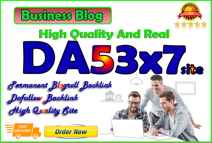 give you da53x7 site business blogroll permanent