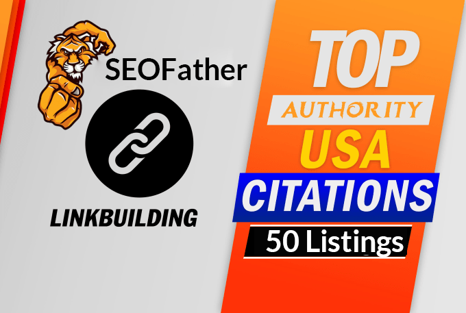 Create 50 google Top citations for USA local business SEO