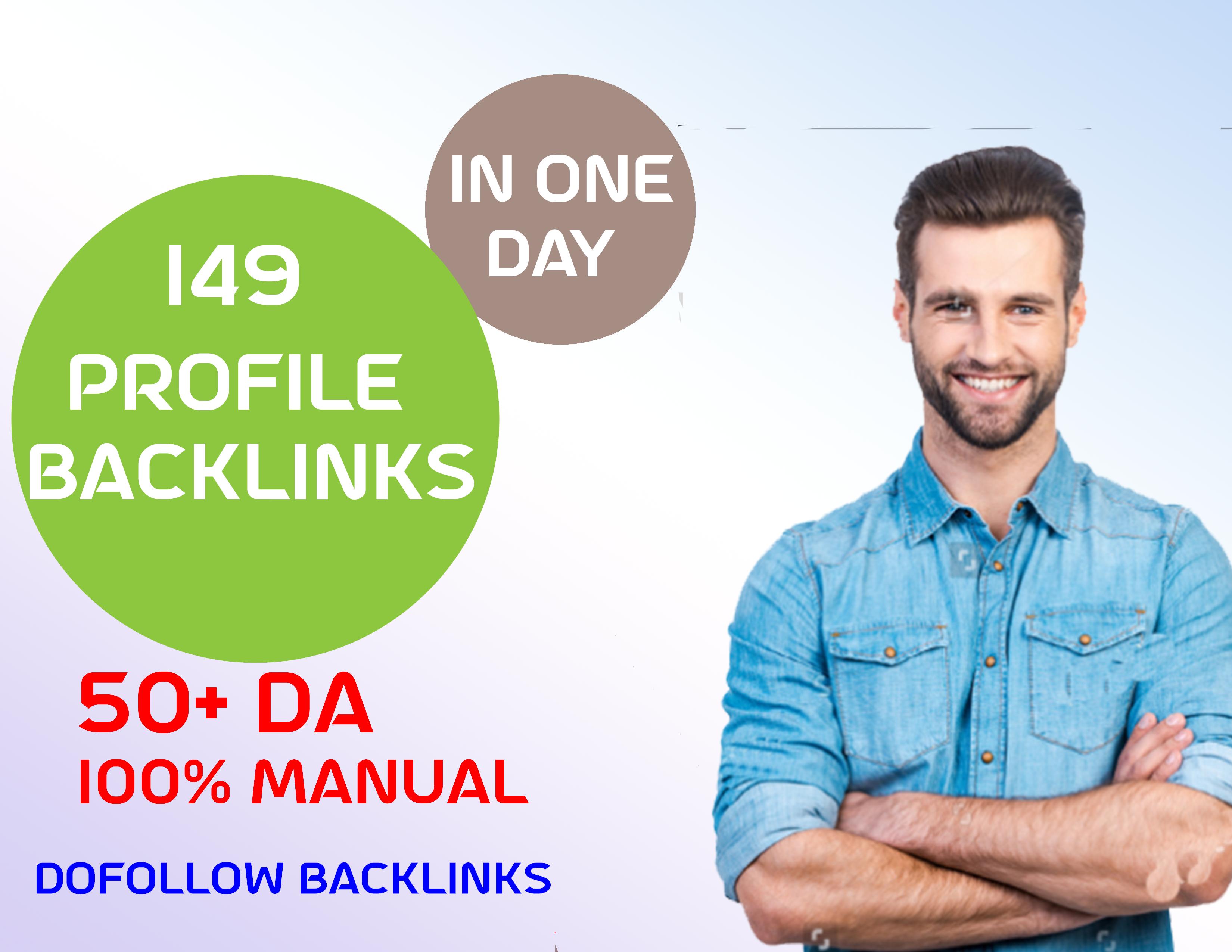 HIGH AUTHORITY CREATE MANUALLY HQ DA DOFOLLOW Profile Backlinks