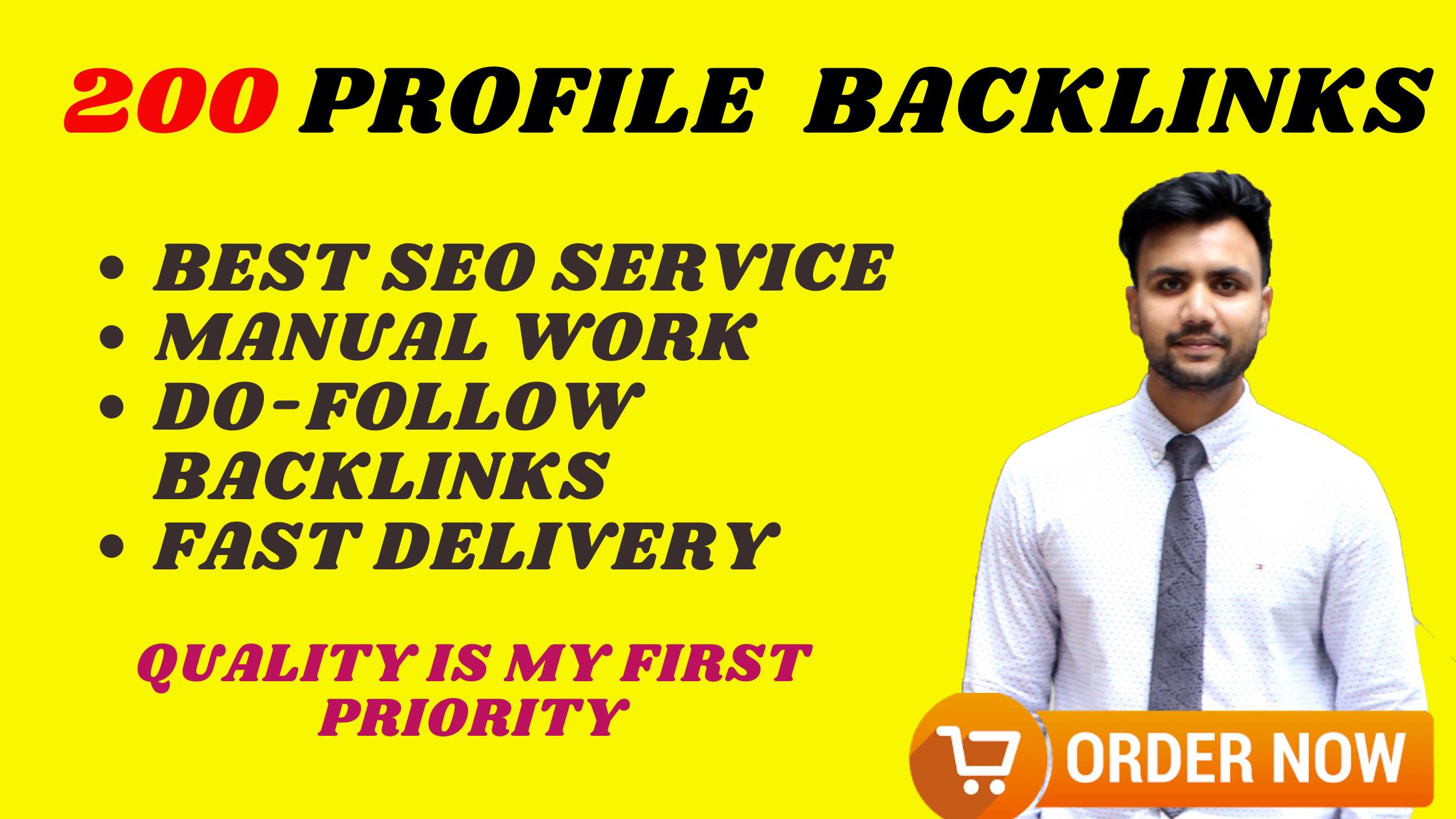 I Will Do Manually 200 Unique Profile Backlinks
