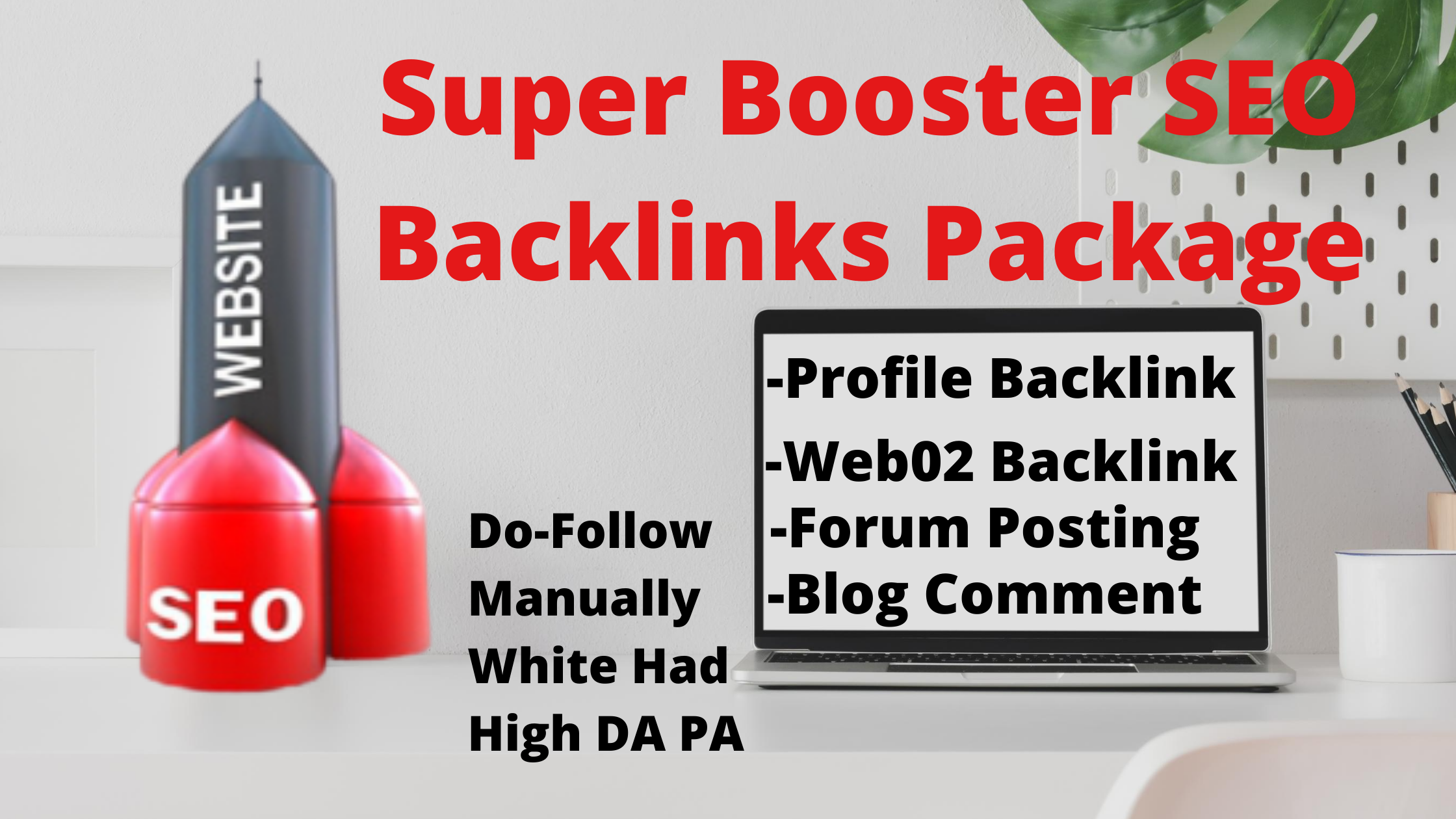 Super Booster High Quality SEO Backlink Package For Web Ranking