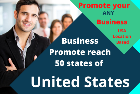 I will promote your business USA reach 50 states of peoples