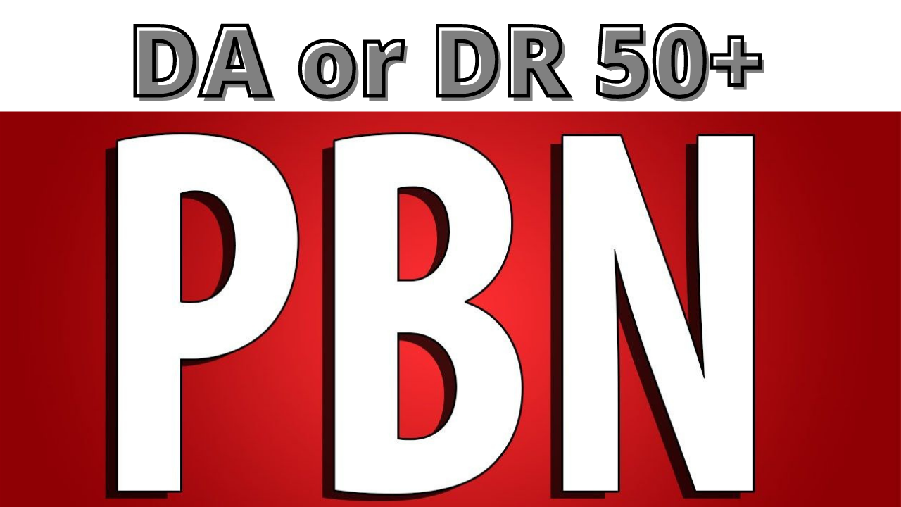 Build 5 PBN DA 50+ and DR 50+ Homepage Backlinks