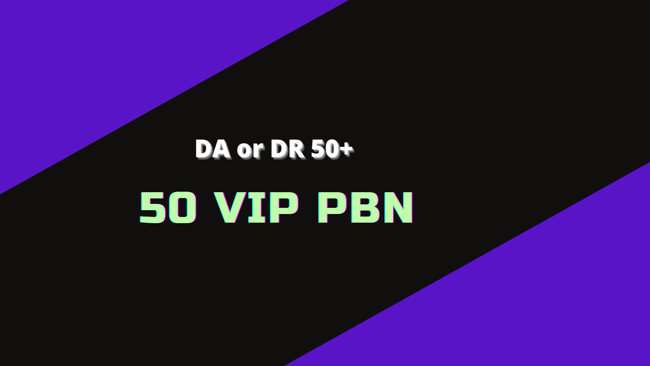 50 PBN DA or DR 50+ Land First Page On Google Gurantee