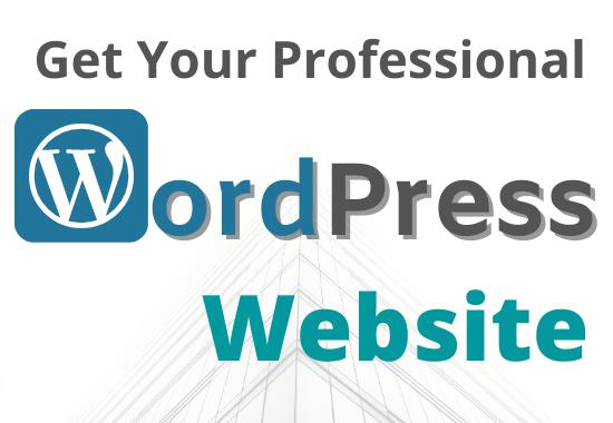 Create a Professional WordPress Website Blog/News/Image Galary/Movie