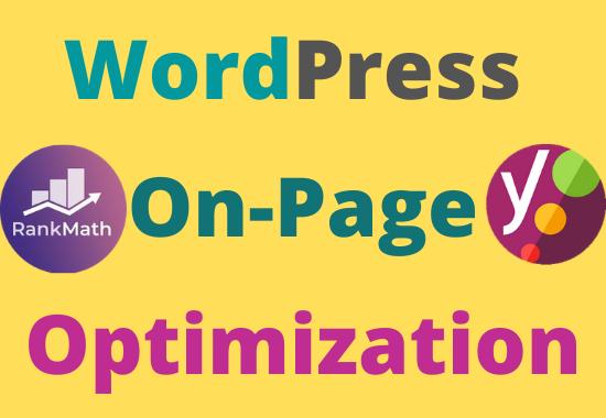 Wordpress On-Page Optimization Yoast/RankMath SEO