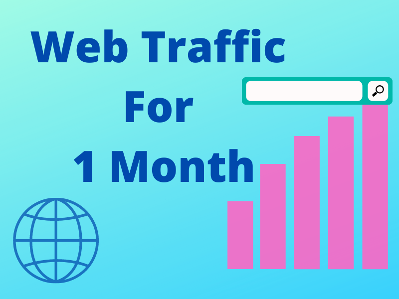 I will serve you UNLIMITED and genuine real Website TRAFFIC for 01 month