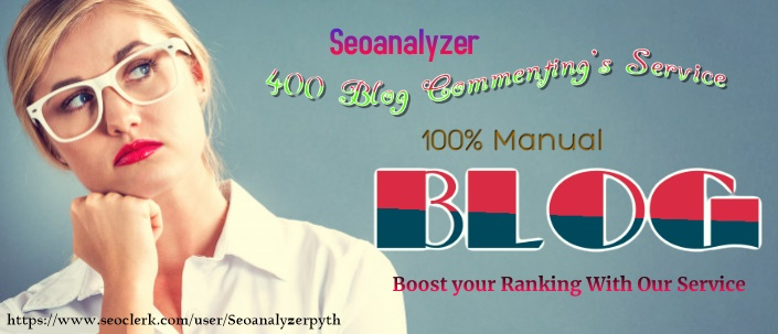 I will Create 400 dofollow blog comments backlinks 100 percent Manual