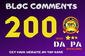 I will do High DA PA 200 dofollow blog comments backlinks