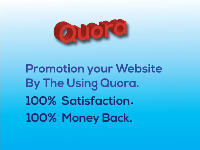 I Will Promotion Your Website By Quora
