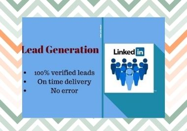 I will provide you b2b Lead Generation