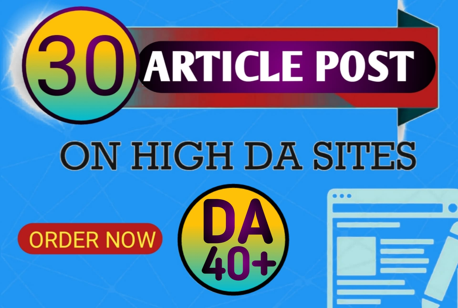 I will create manually 30 High-quality Article Submissions for your website and build a natural link