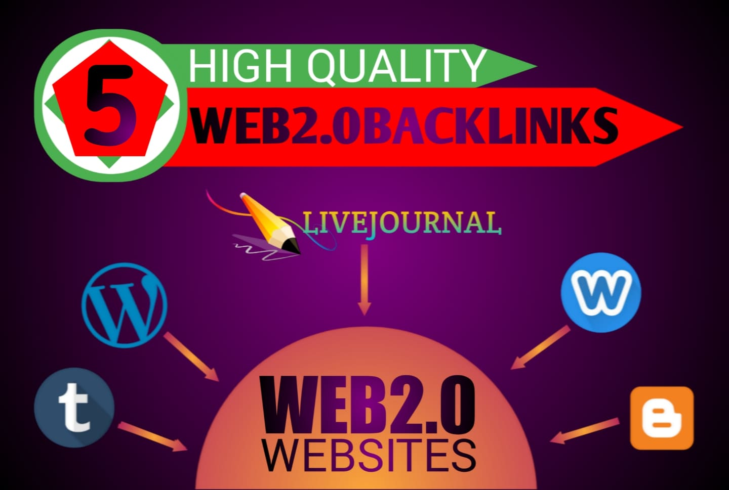 I will Create Manually 5 High DA Contextual Web2.0