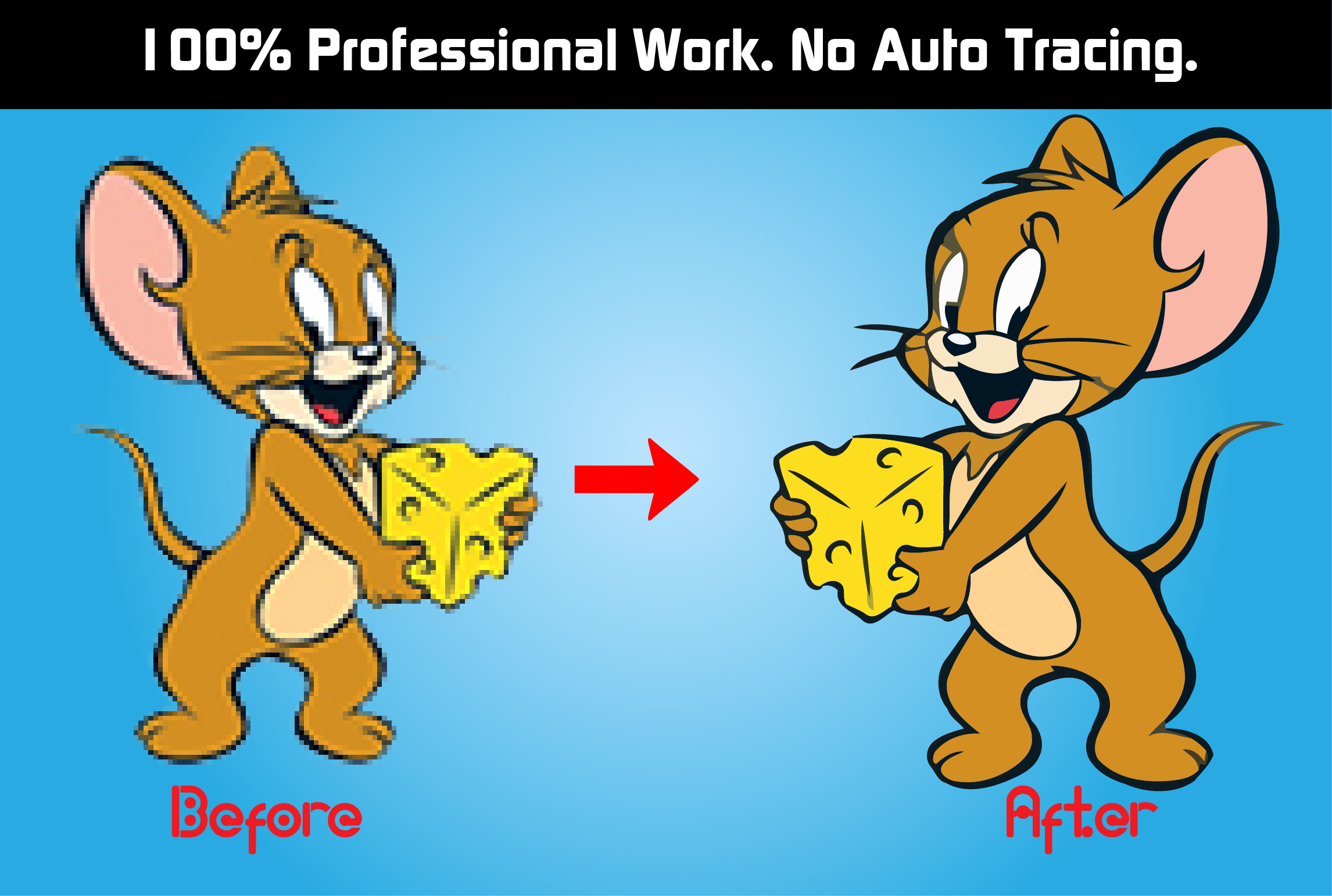 I will do Professionally Vector Tracing Your Logo or Any File