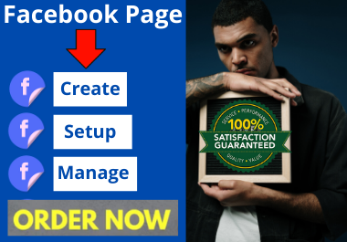 Professionally Facebook page create and setup