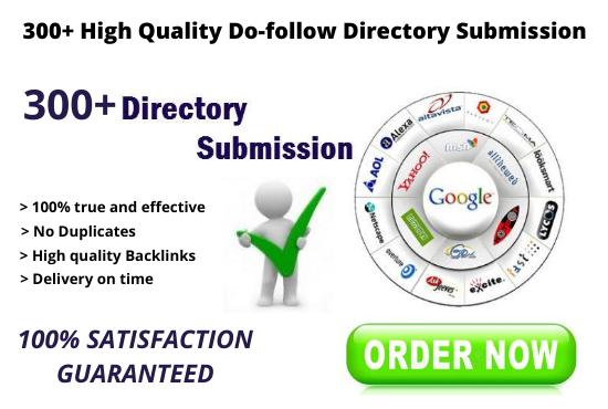 I will do 300+ high quality do-follow directory submission backlinks