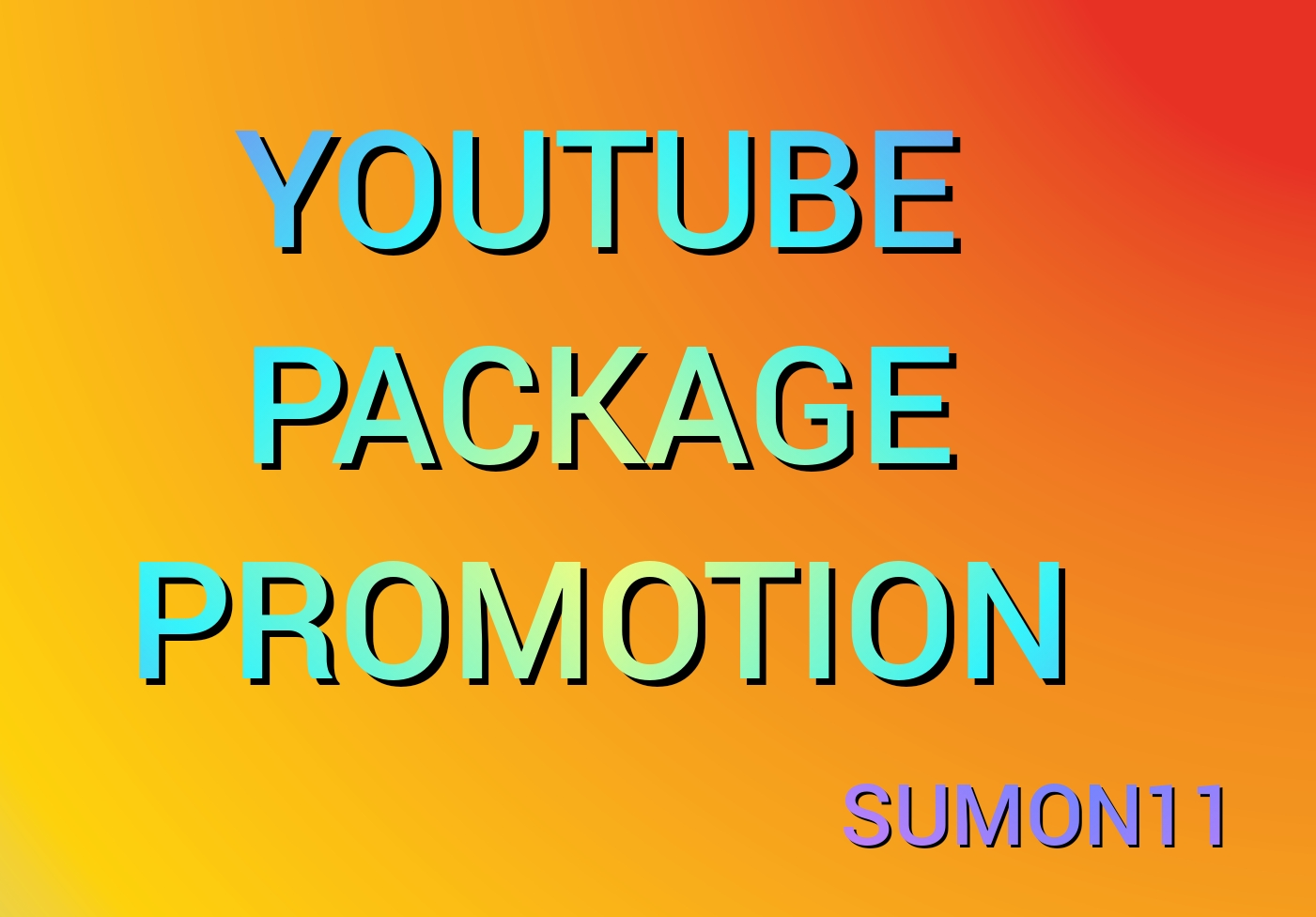 Fast Youtube video promotion Social media marketing by Sumon1