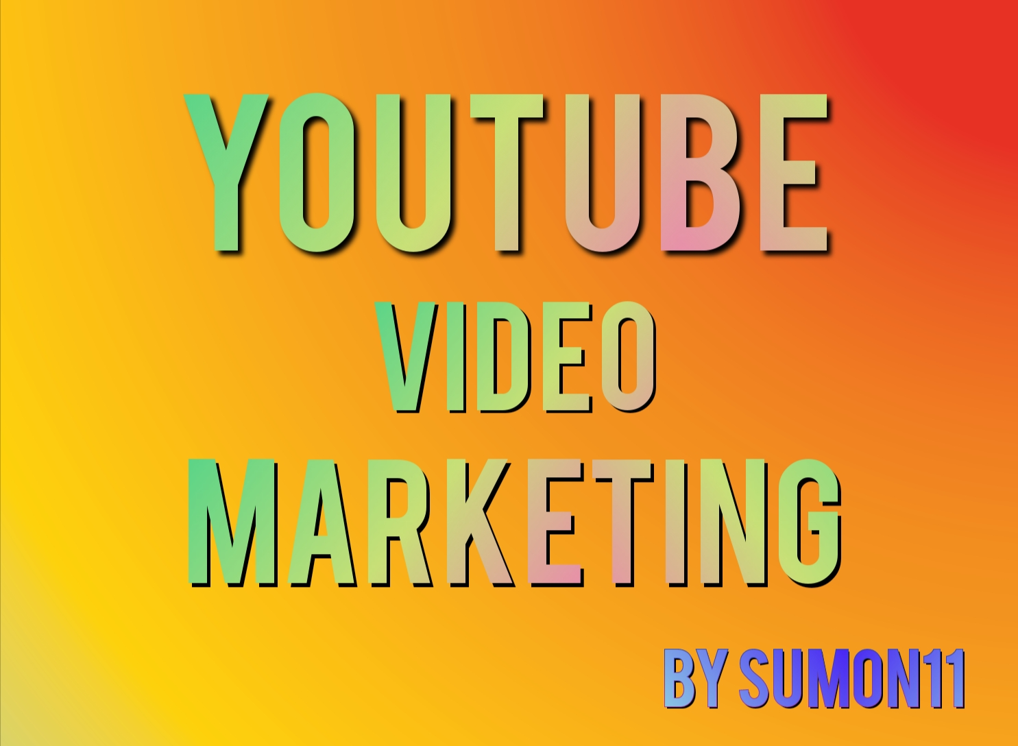 All in one youtube video promotion social media marketing by Sumon11
