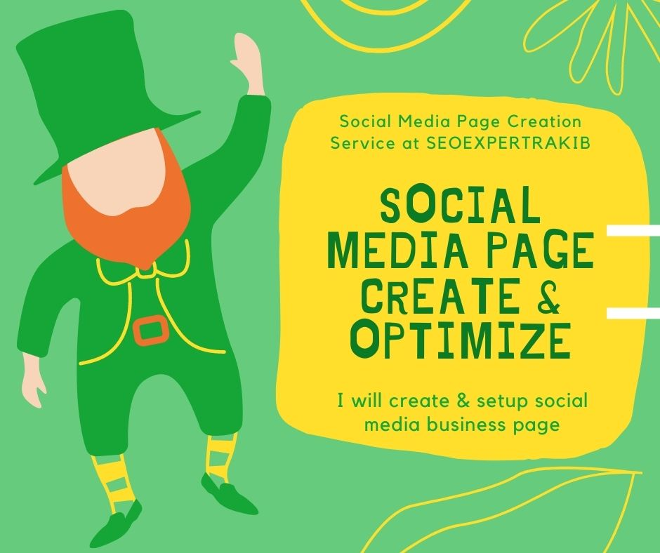 I will do social media page create & optimize for you business & blog