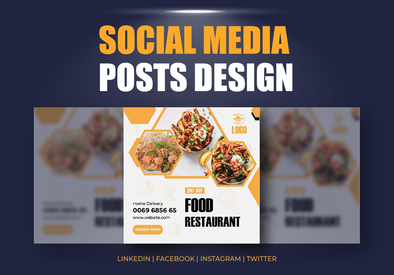 I will design creative professional social media posts