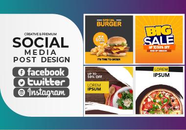 I will design creative & Premium social media post design,  banner ads