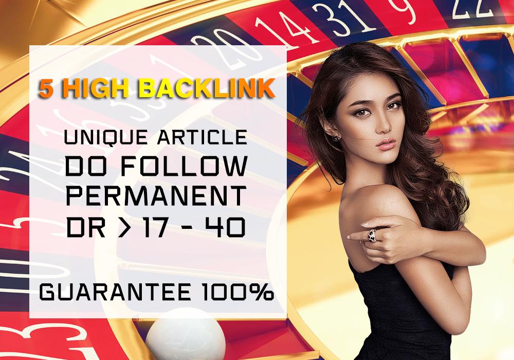 Create 5 High Quality PBN for Gambling Niche