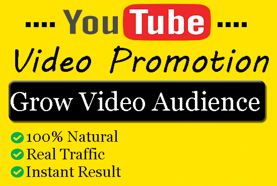 I will do organic you-tube video promotion