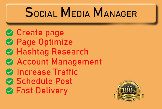 Will be your professional social media manager