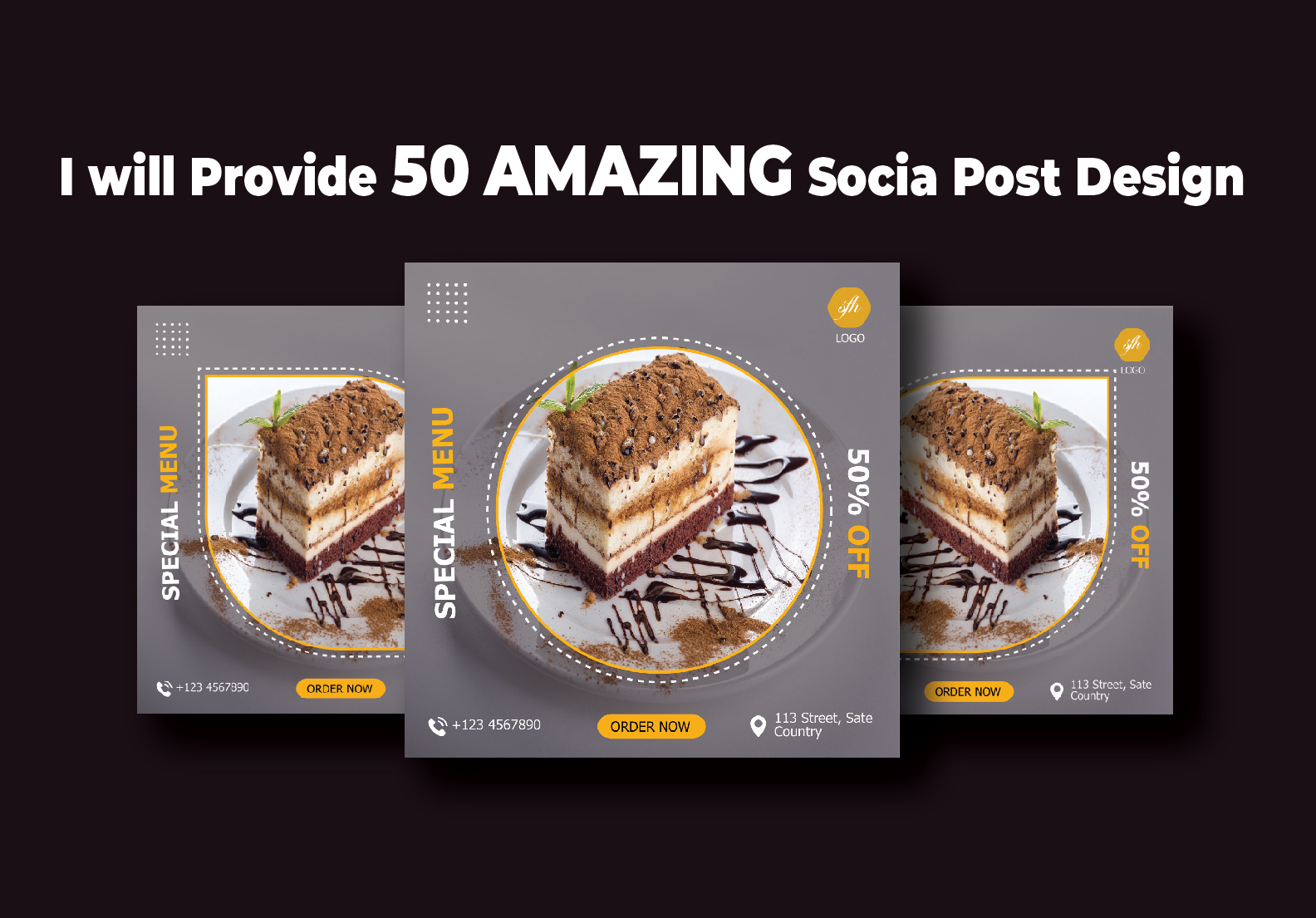 I will Provide 50 Amazing Social Post Design