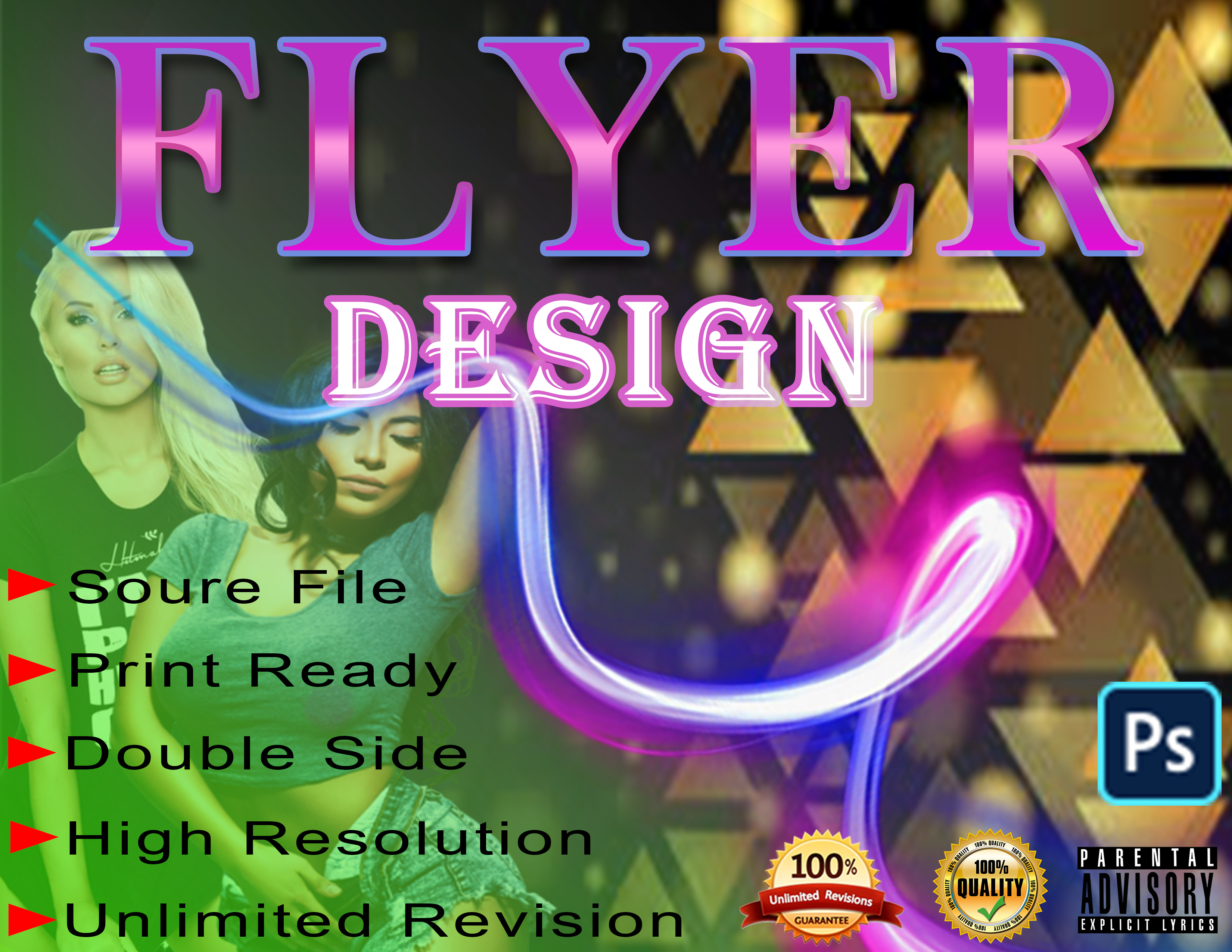 I Will Do Creative Flyer, Poster and brochure