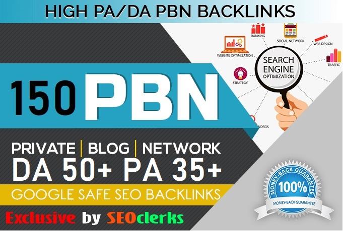 Get 150 Web 2.0 PBN Dofollow Backlinks DA 50+ PA 35+ Blog