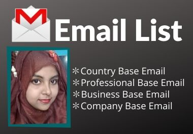 I will Provide 500 verified targeted email list