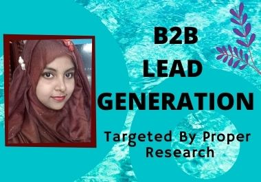 I will give you 10 valid and targeted lead generation