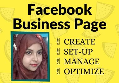 I will create and set up impressive facebook business page
