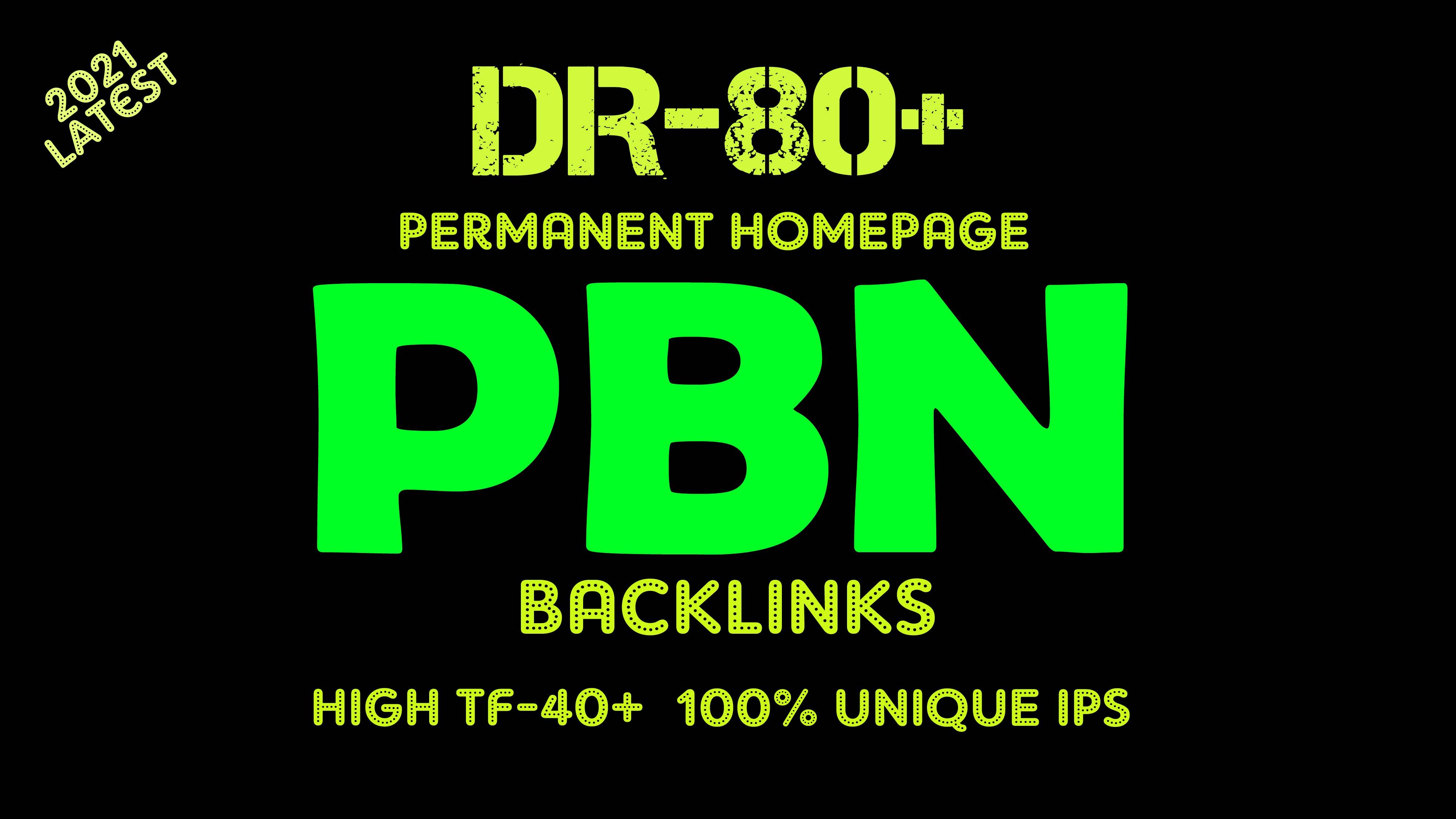 Build high quality da pa tf DR-80 homepage backlinks